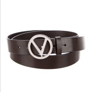 Valentino Leather Logo belt